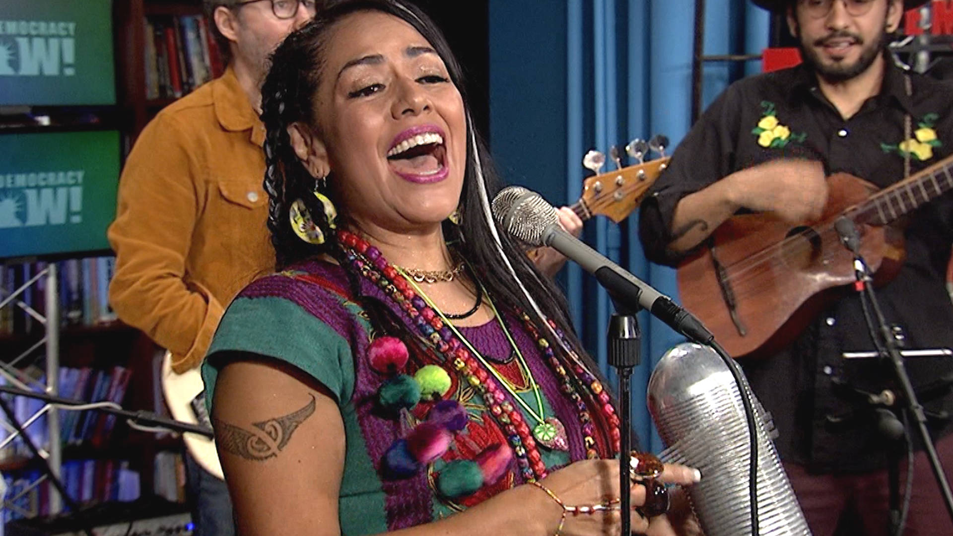 Live in the DN Studio: Mexican Singer Lila Downs Protests