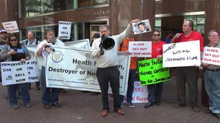 S alden global capital digital first media worker protest1