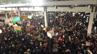 Protests Erupt at U.S. Airports As Trump Order Targeting Refugees & Muslim Immigrants Takes Effect