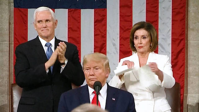 H2 democrats boycott walk out trump state of the union address sotu