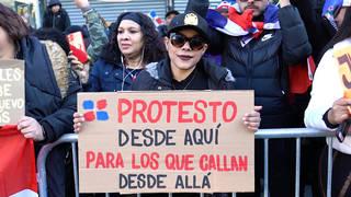 H12 thousands protest suspension municipal elections dominican republic