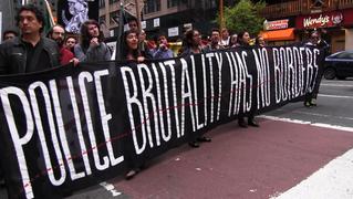 Ayotzinapa caravan mexico police brutality march