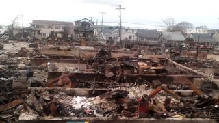 Sandy destruction