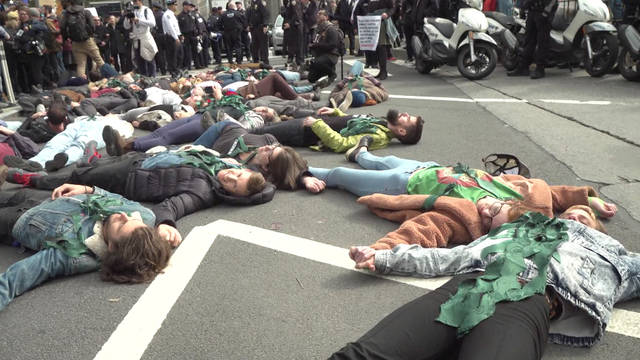 H14 nyc extinction rebellion die in protest arrests