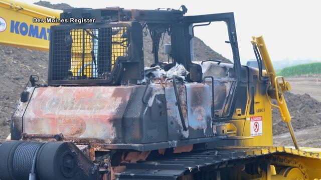 H10 machinery burned