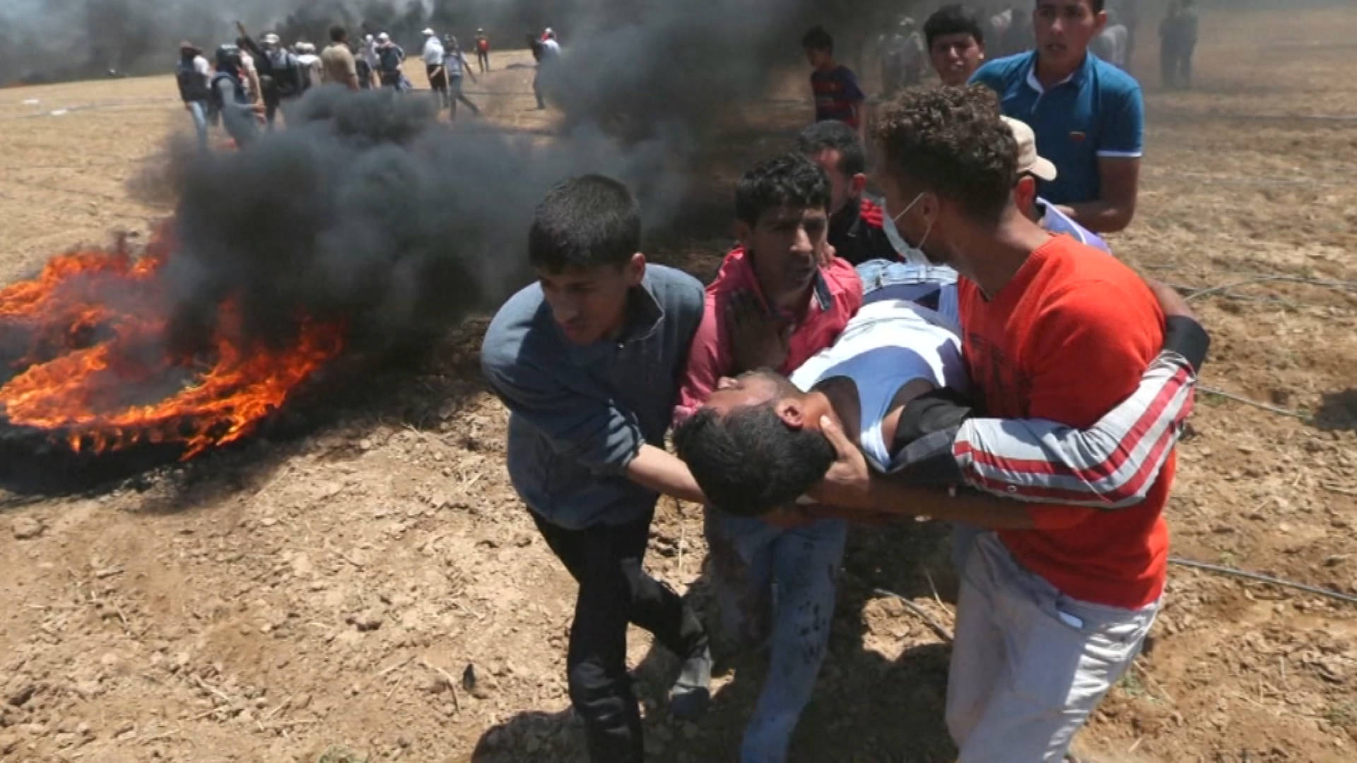 H1 61 palestinians killed by israeli army