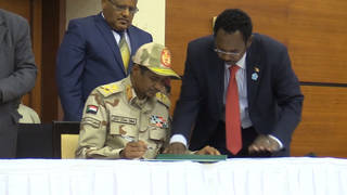 H7 sudan transitional military power deal civilian protesters