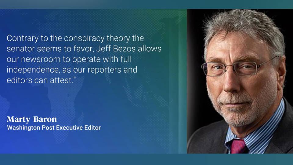H9 washington post bernie sanders conspiracy theory amazon jeff bezos executive editor response
