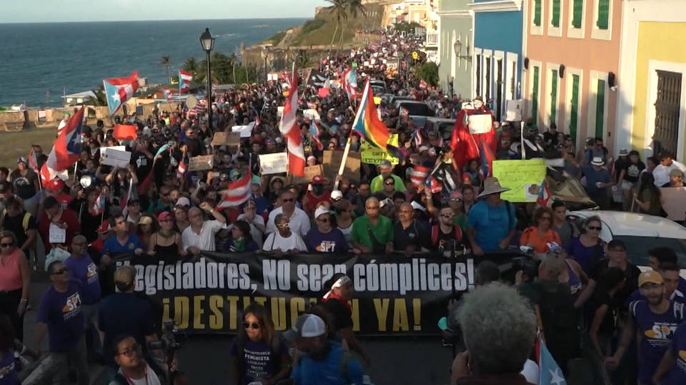 H9 puerto rico protests ricardo ressello resignation text message leaks