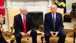 H2 trump unveil middle east peace plan netanyahu indicted over corruption