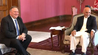 H8 pompeo peace deal troops afghanistan kabul visit