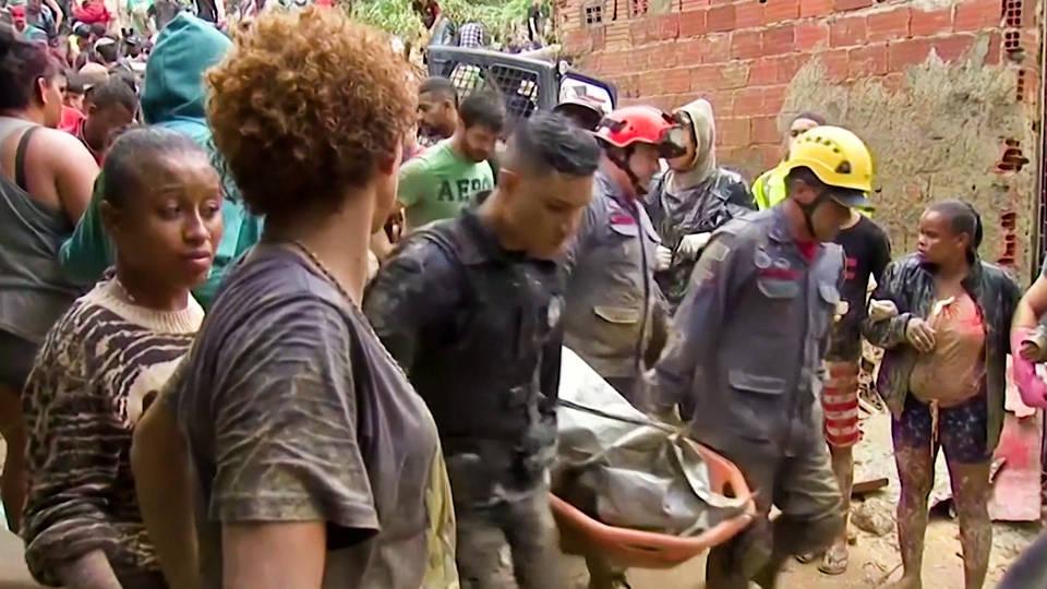 H11 brazilian officials blame climate change landslides kill at least 29