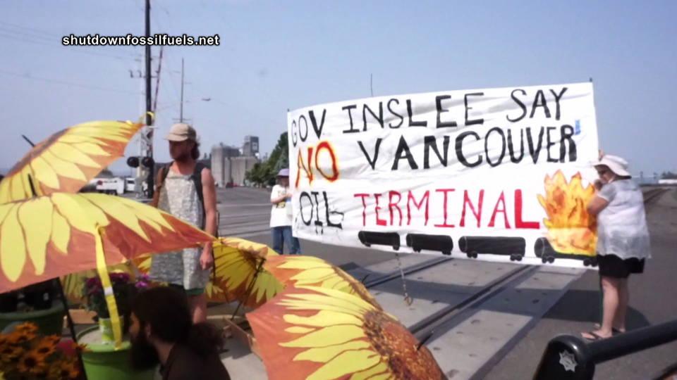 H14 oil train blockade