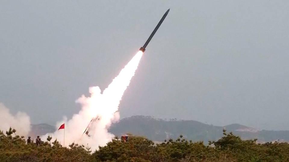 H10 north korea short range basllistic missile test