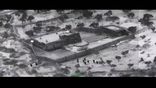 H10 pentagon releases video showing raid al baghdadi compound us military syria isis