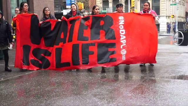 Citi protest waterislife