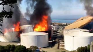 H10 san francisco california nustar facility fuel tanks explode fire cockett