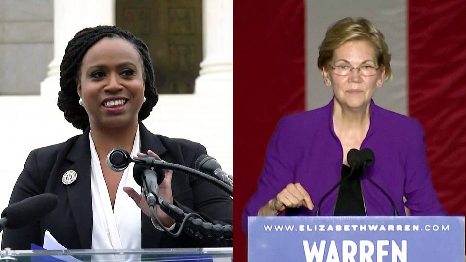 H2 ayanna pressley endorses elizabeth warren chesa boudin elections jeff sessions senate bill gates tax the rich
