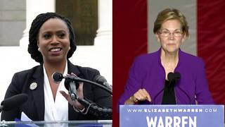 H2 ayanna pressley endorses elizabeth warren chesa boudin elections jeff sessions senate bill gates tax the rich