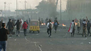 H7 at least 4 killed dozens injured iraq popular protests mount nationwide