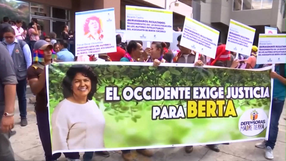 H12 berta caceres assassination arrest