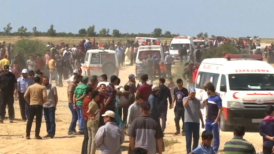 H10 nakba day gaza protesters israel forces