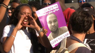 H10 ethiopians israel protest killing soloman tekah haifa