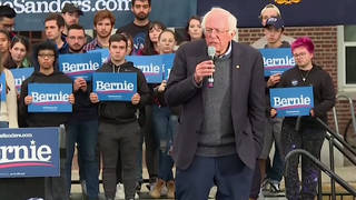 H3 bernie sanders surgery blocked artery chest pain stent