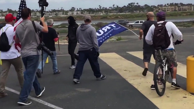 H09 california trump rally brawl