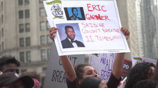 H15 eric garner protest march nyc anniversay panteleo nypd gwen carr staten island
