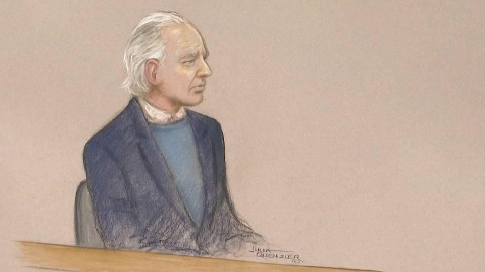 H6 julian assange uk court frail confused london extradition espionage act v2