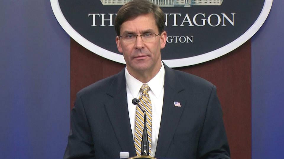 H1 defense secretary mark esper soleimani embassy attacks us iran