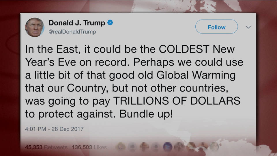 Image result for trumps global warming tweet