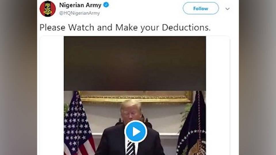 H8 nigerian army tweet