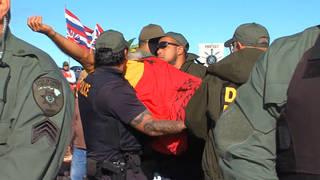 H17 hawaii big island mauna kea telescope protest arrest elders