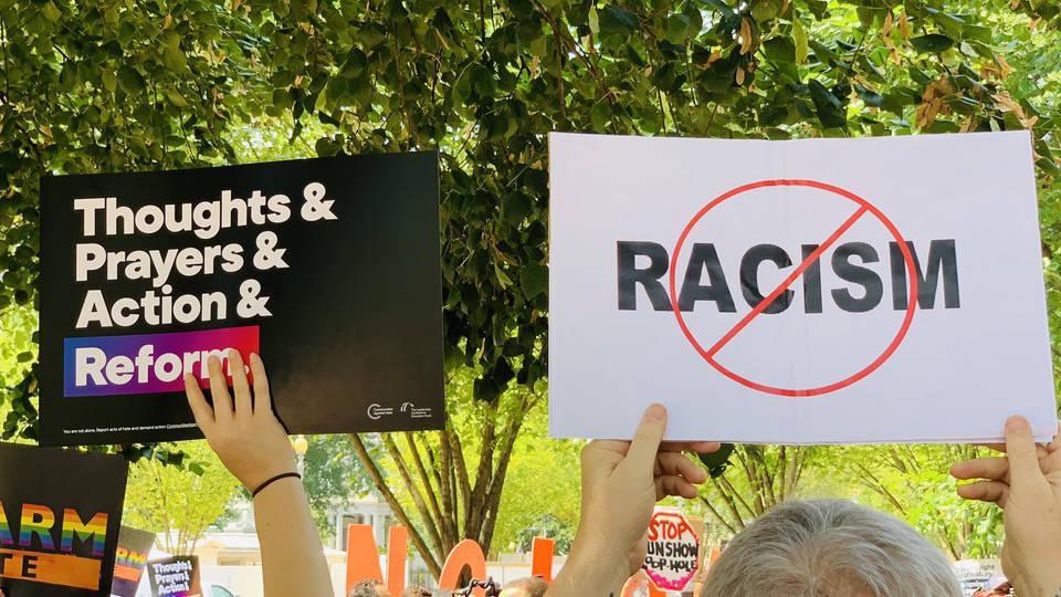 H4 white supremacy gun violence rally white house civil rights groups trump