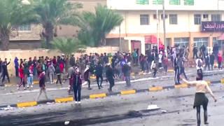 H4 iraq gunman kills anti government protesters baghdad
