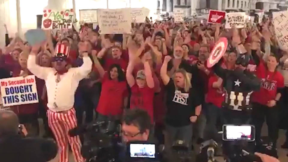 H10 wv teachers end strike