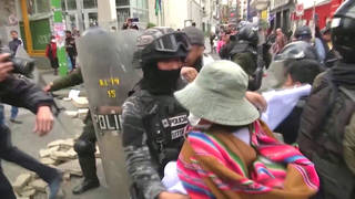 H6 bolivia protests interim president anez morales