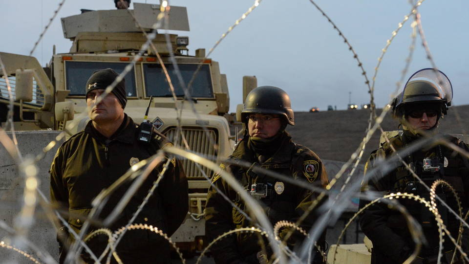 H07 police at standing rock