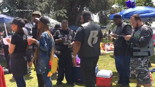 H9 oakland bbq while black