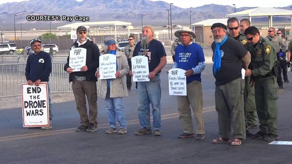 H11 drone protest