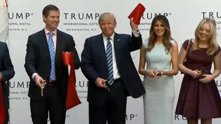 H16 trump international hotel press event