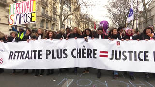 H7 france pension protests retirement age government backing down