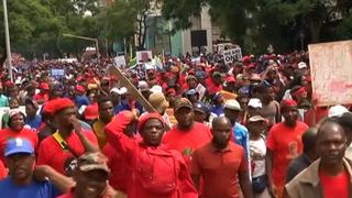 H16  south africa zuma march