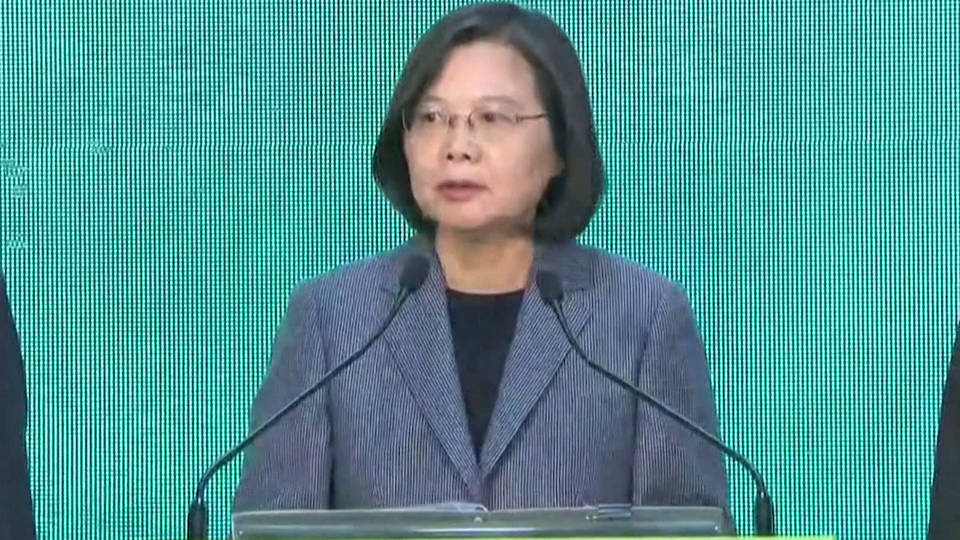 H8 taiwain election president tsai ing wen china sovereignty hong kong protests