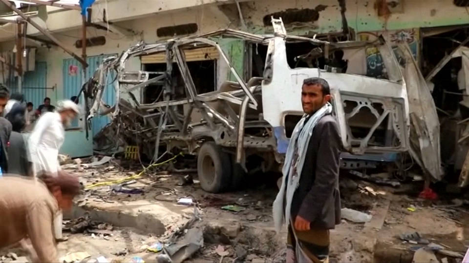 H6 yemen bus bombing aftermath saudi coalition says unjustified