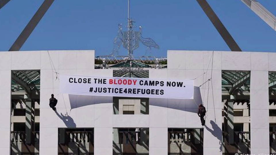 H11 australia refugee camp protest