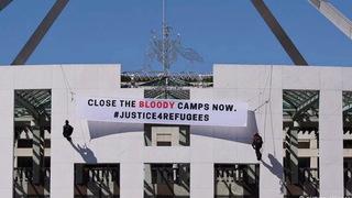 H11 australia refugee camp protest