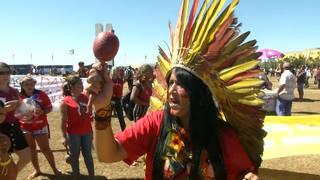 H6 brazil indigenous women protest bolsonaro brasilia amazon